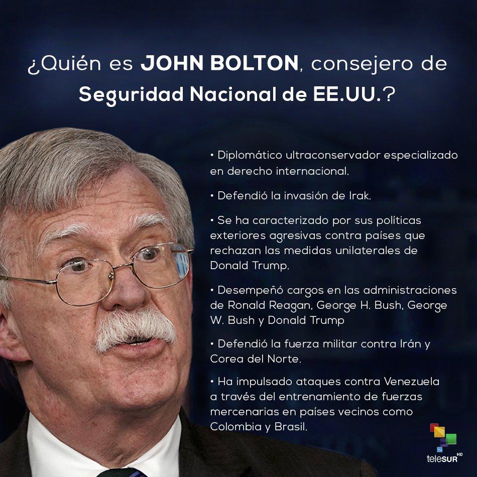 El presidente de #Venezuela🇻🇪, @NicolasMaduro, denunció la existencia de planes desestabilizadores de #EEUU🇺🇸 contra su país liderados por John Bolton ¿Quién es este funcionario estadounidense y cuál es su postura sobre la nación sudamericana? Sepa más👉 go.shr.lc/2Qqj2CO