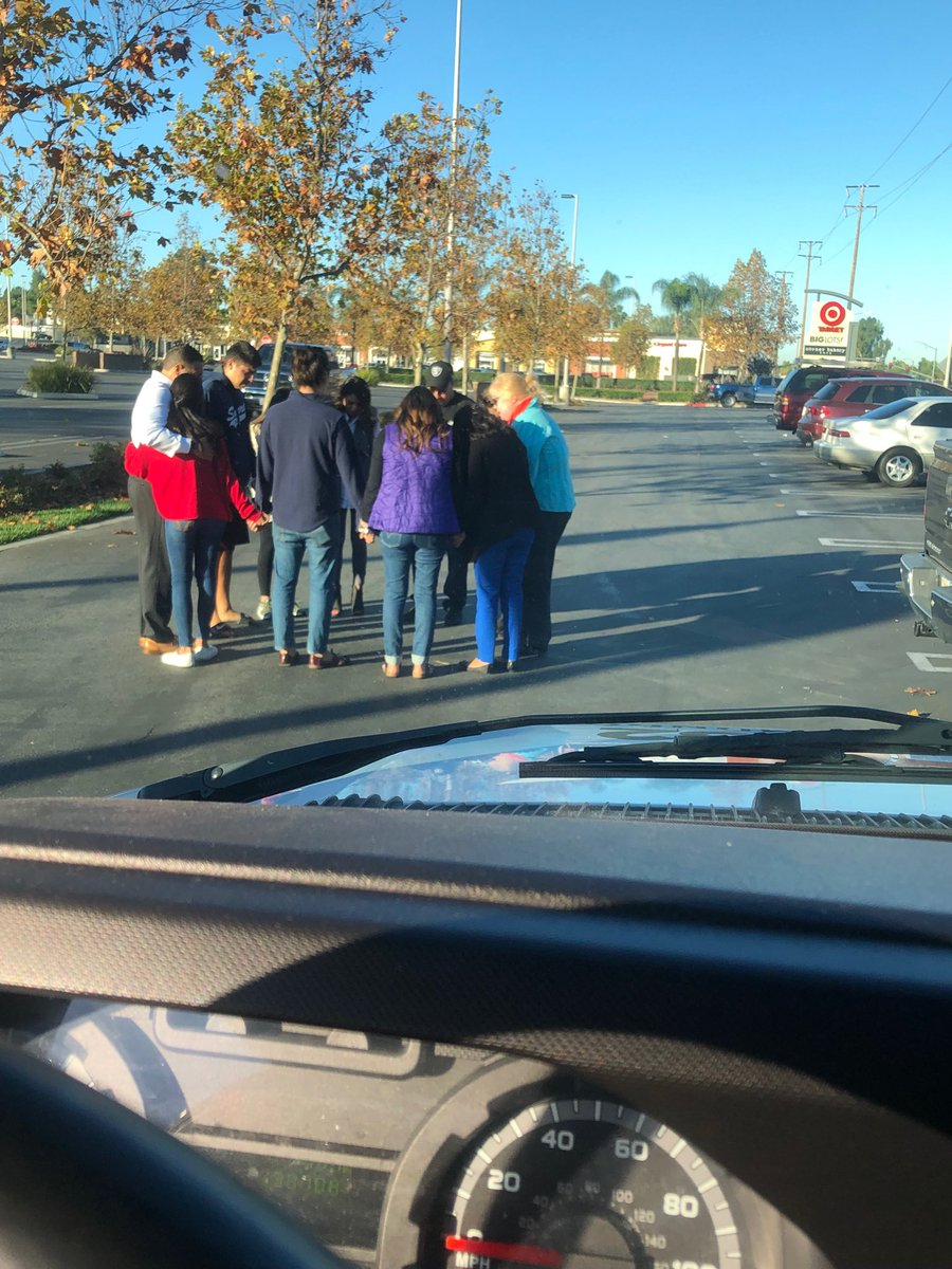 A mother finds her own son dead in a car accident as she drives to work.   Her family stops to pray. #LaHabra More on ⁦@NBCLA⁩ at11am