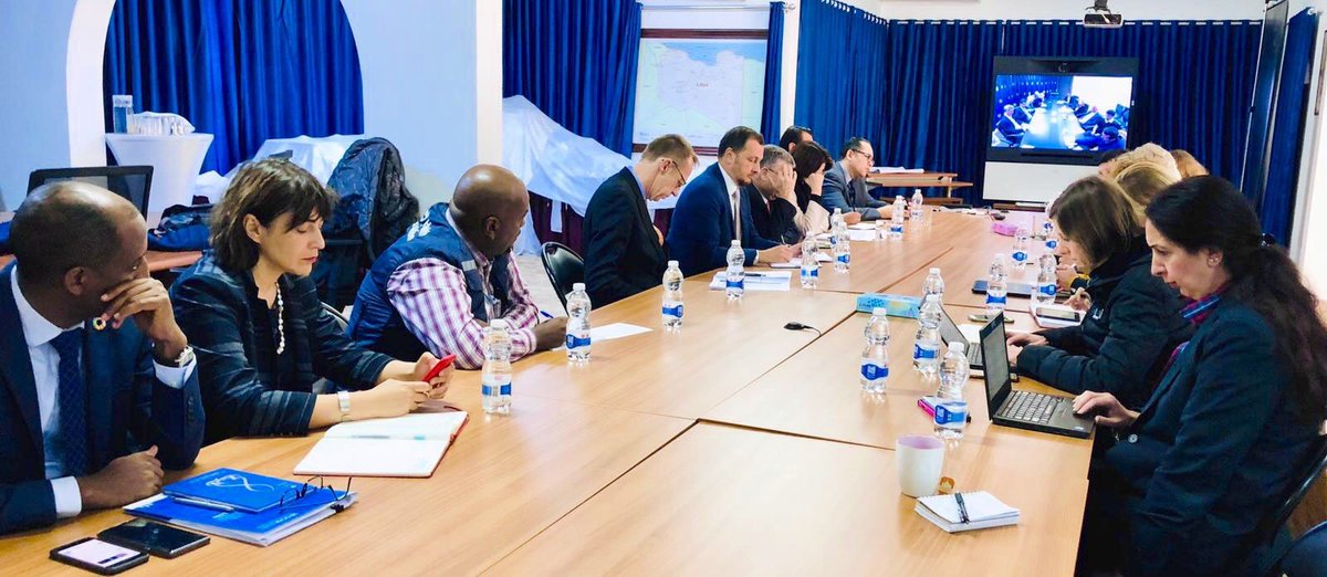 Great discussion w/ #Libya UN Country Team &amp; Humanitarian Country Team. We congratulated them on efforts in responding to needs despite huge challenges &amp; expanded presence in Tripoli &amp; throughout country. All working for better future for Libyan people<br>http://pic.twitter.com/jn5h69mfv7