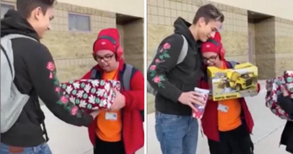 High school senior gets surprise gift for classmate with special needs – and his reaction is priceless https://t.co/udrUBYUhcI