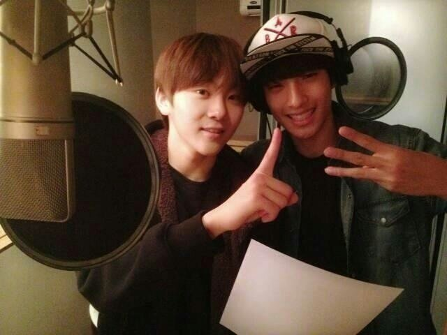 baby seokmin and seungkwan in the studio (2013) <br>http://pic.twitter.com/UbmbRpYQOg