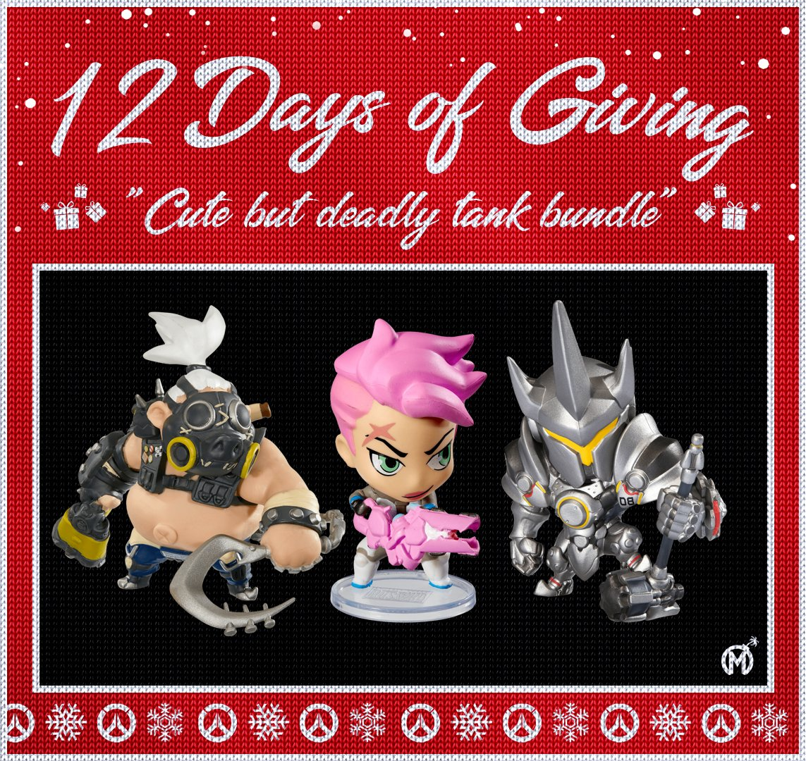 12 Days of Giving! Starting today, we'll be giving away @PlayOverwatch prize bundles for the next 12 days.  How to enter:  🎁 RT each day's tweet 🎁 Follow 🎁 Use daily hashtag (today's is #CuteButDeadly)  Daily winner's will be notified via DM at 11:59 PM PST! 🎄