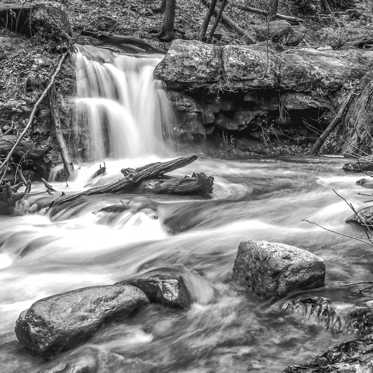 But to see in black and white is a delight for the soul andri cauldwell monochromelandscape quote hiking longexposure waterfall delwatergapnps