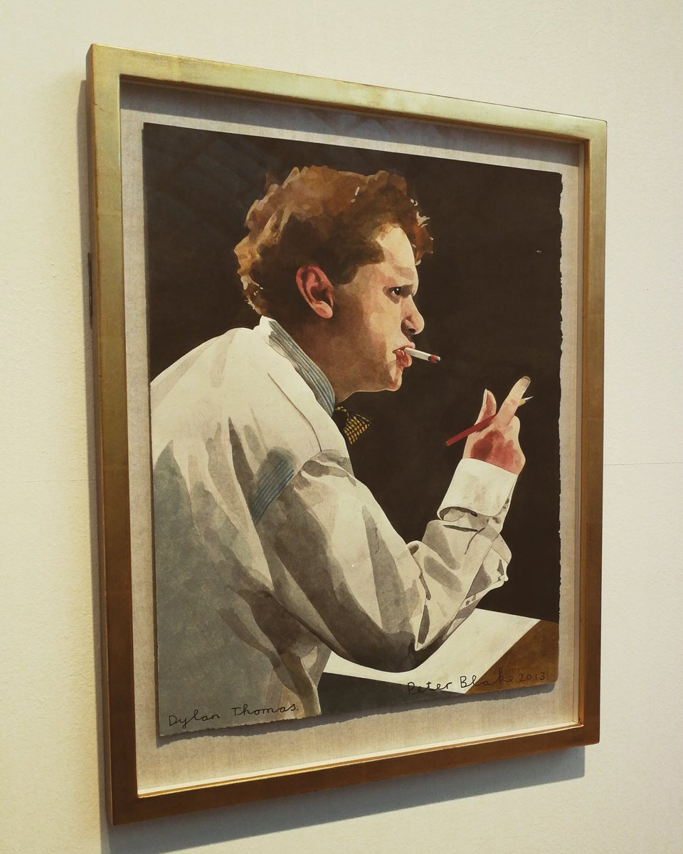 Two excellent exhibitions on @GlynnVivian at the moment: the annual Swansea Open, featuring the work of local artists, and Sir Peter Blakes series of collages and illustrations relating to Dylan Thomass Under Milkwood. #Swansea