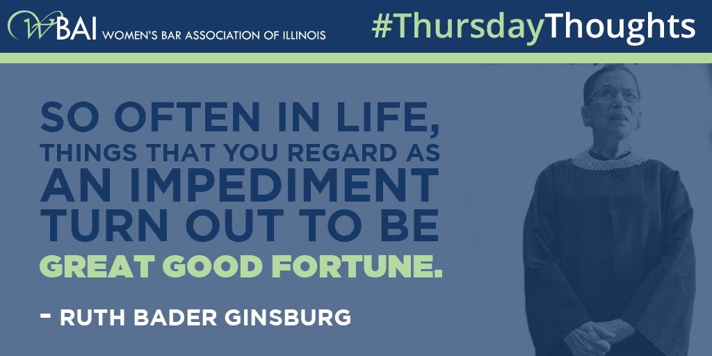 With the new bio pic &quot;On the Basis of Sex&quot; being released, we take a look at these sage words of wisdom from Justice Ruth Bader Ginsburg on this #ThursdayThought. <br>http://pic.twitter.com/GRVbkPLEHF