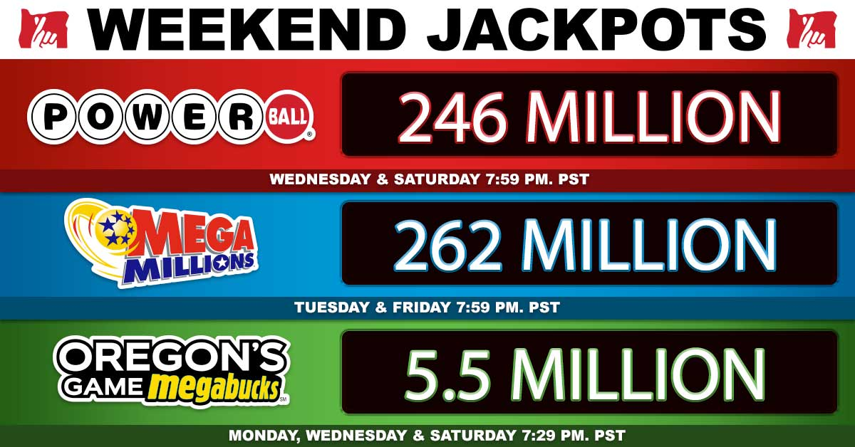 Oregon Lottery On Twitter The Weekend Jackpot Drawings Are Getting