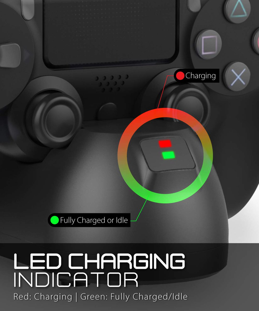 This PS4 controller charging station has built-in LED indicators to show the current status of your controller.  https://t.co/jYRvVRVcs7  #PS4 #gamer #playstation #ps4charger #controller #fosmon https://t.co/pHag3RbG1Q