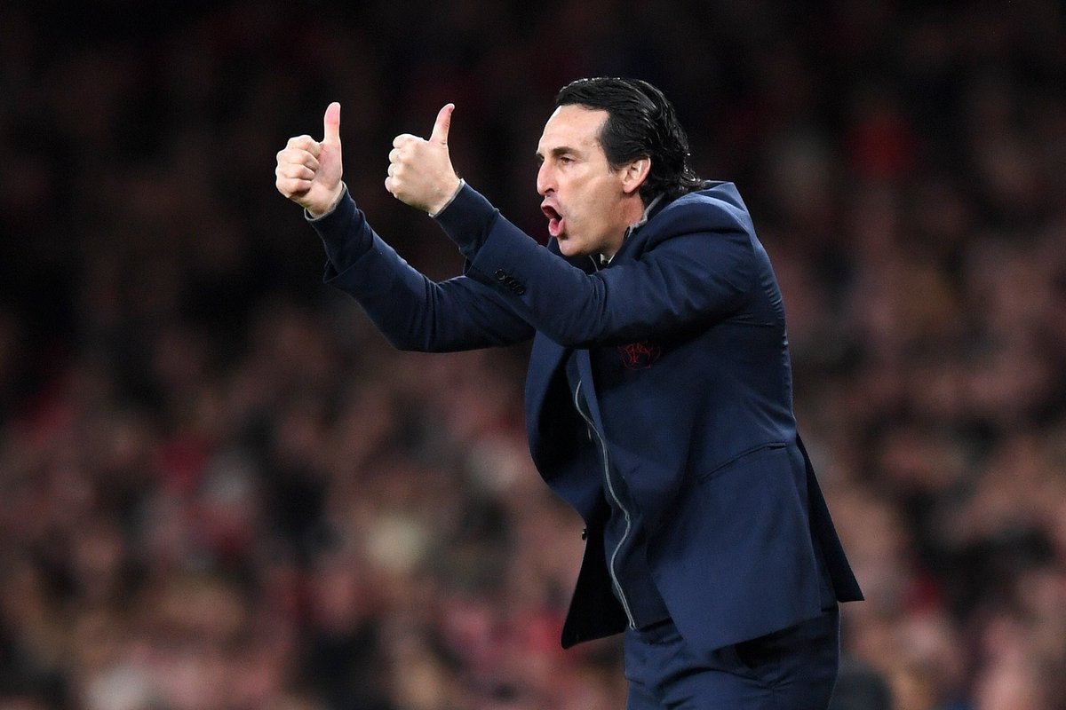 "Unai Emery on the January transfer window: ""I think if we can take one player to help us at centre-back, I think it's a good option. The transfer window is not easy."" #afc"