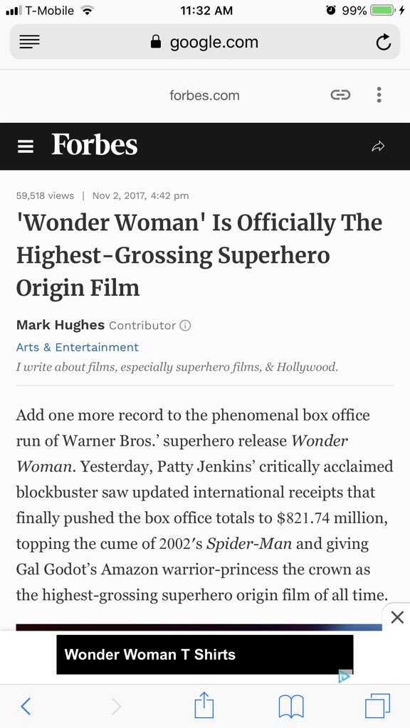 Right? And Comic Fans were protesting Gal Gadot an Israeli actress playing Wonder Woman and look what happened <br>http://pic.twitter.com/PloHRy51Yh
