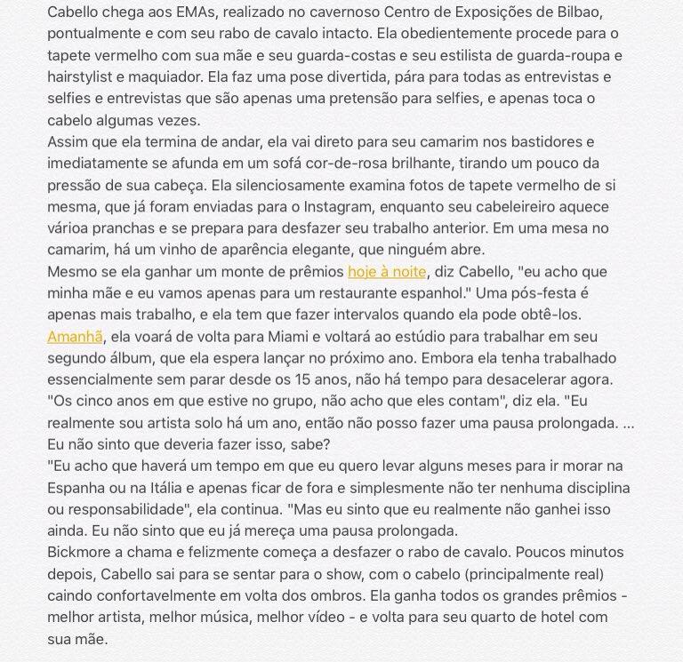 """Uma das capas da Billboard de dezembro, Camila Cabello fala sobre Taylor Swift, """"ser artista"""", infância e relacionamento com namorado"""