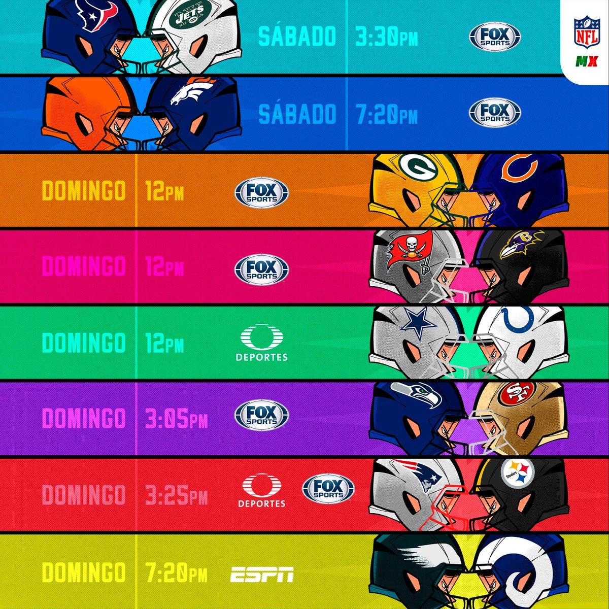 Nfl Mexico On Twitter Que Juegazos Este Fin De Semana Se