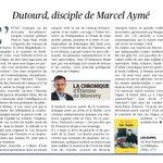 Image for the Tweet beginning: Dutourd, disciple de Marcel #Aymé