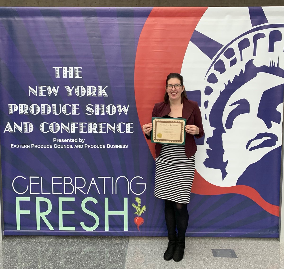 Congratulations @AeroFarms Hannah! 👏🏻