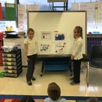 Image for the Tweet beginning: First graders presenting their research