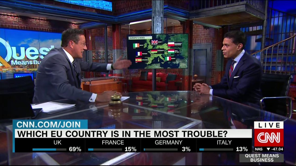 @FareedZakaria goes over just whats at the base of #Europes problems on #QMB with @richardquest. #Brexit #EU