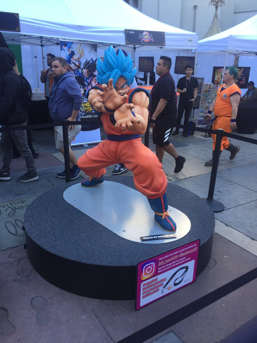 #DragonBallSuperBroly fan event is now open in forecourt! Stop by and check it out.