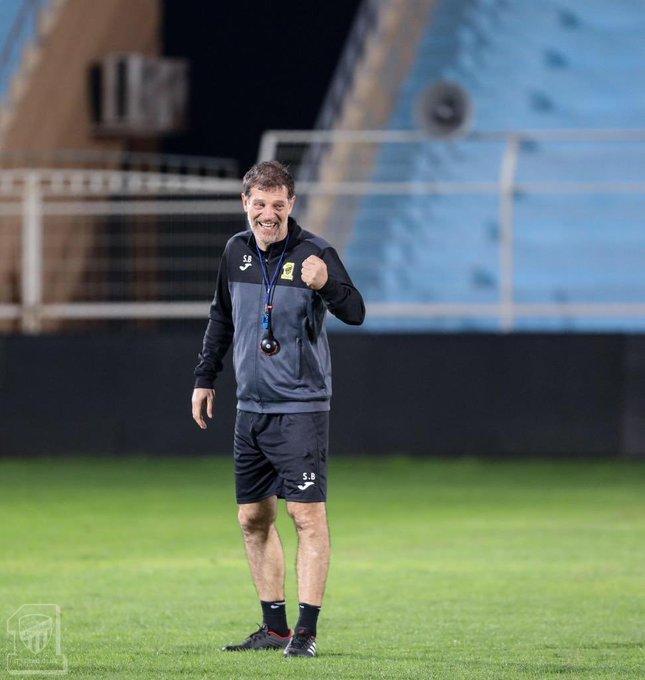بحضور رئيس النادي المهندس لؤي ناظر، #الاتحاد يختتم استعداداته قبل لقاء @albatinclub غدً الجمعة. (@ittihad :📸) Photo
