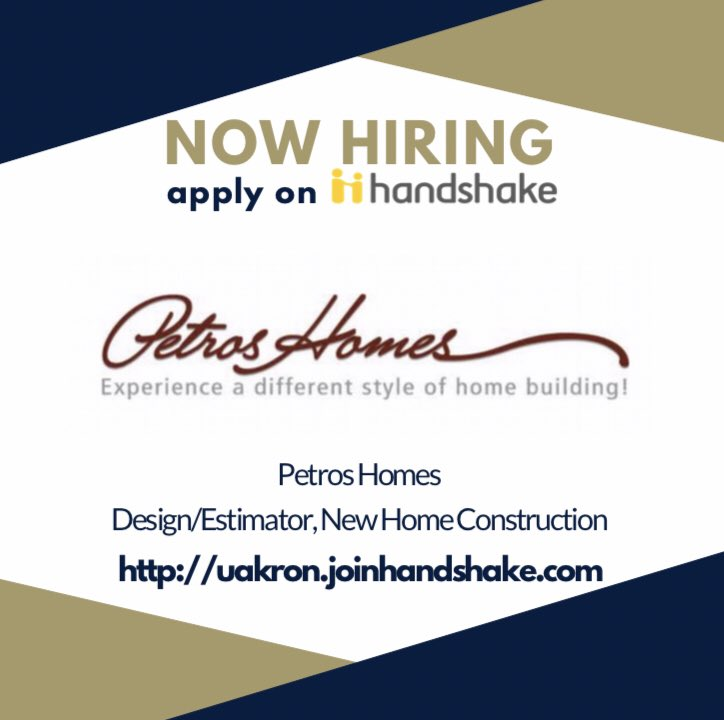 Ua Career Services On Twitter Petros Homes In Broadview Heights Is