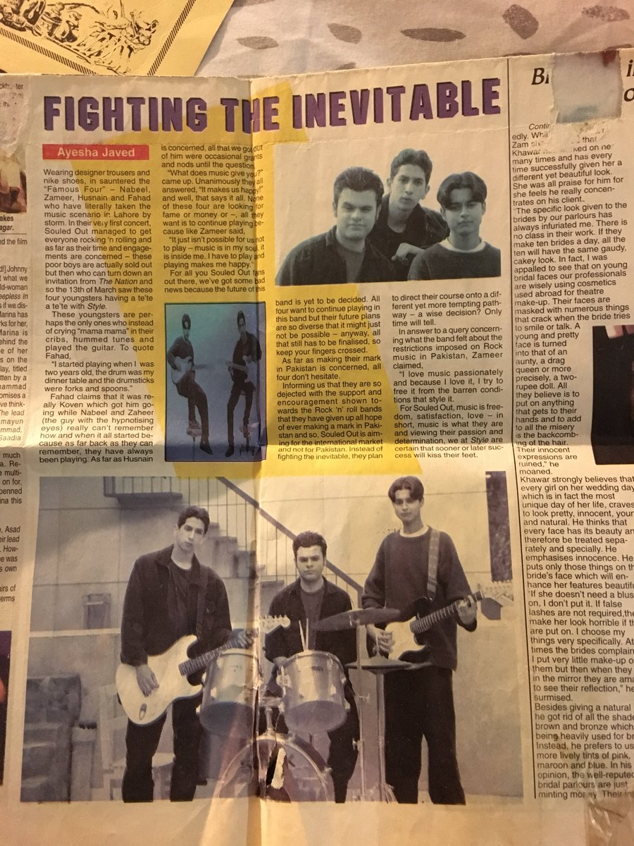 Zameer On Twitter Found This Article About My Band From