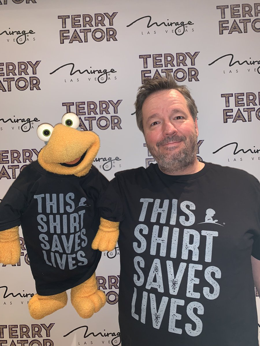 Terry Fator's photo on #ThisShirtSavesLives