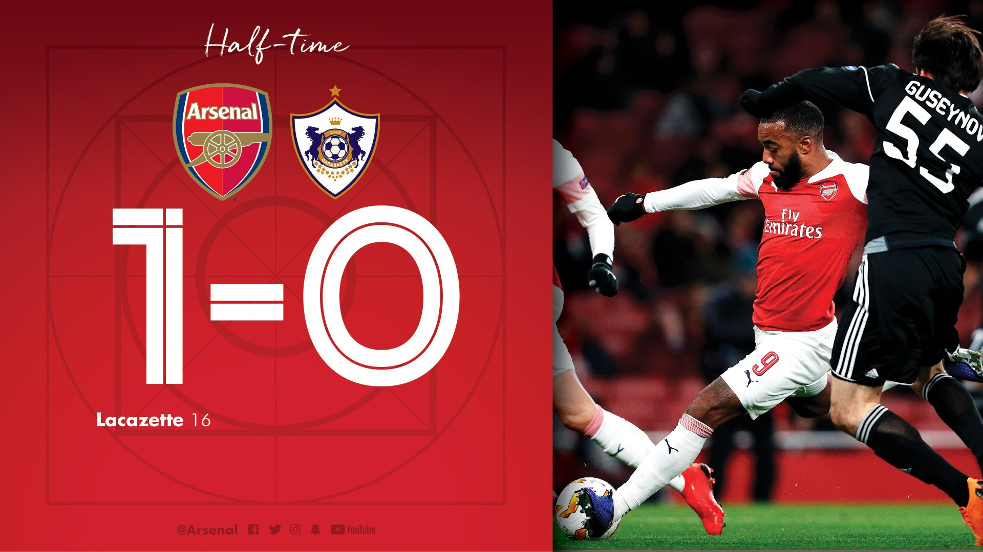 Arsenal 1  Qarabag 0