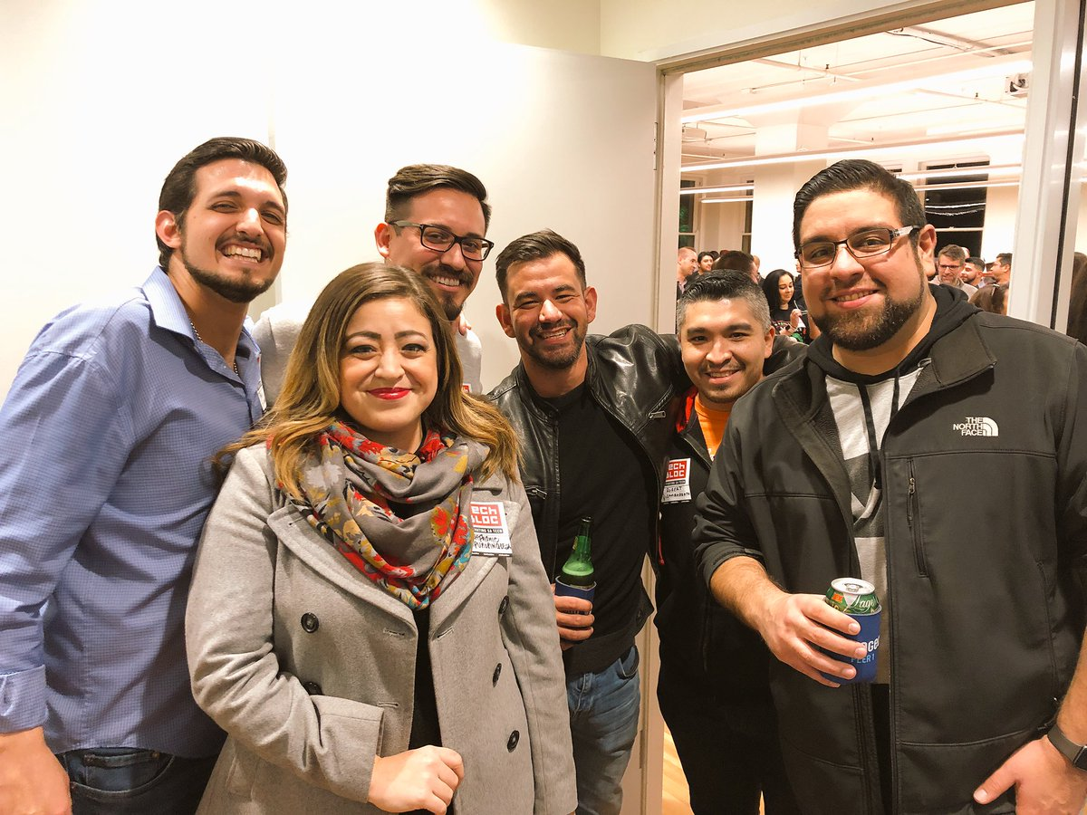 Great time at the beautiful Burns building downtown for the 3rd Annual #SanAntonio #TechBlocHoliday SA's tech community is blowing up!
