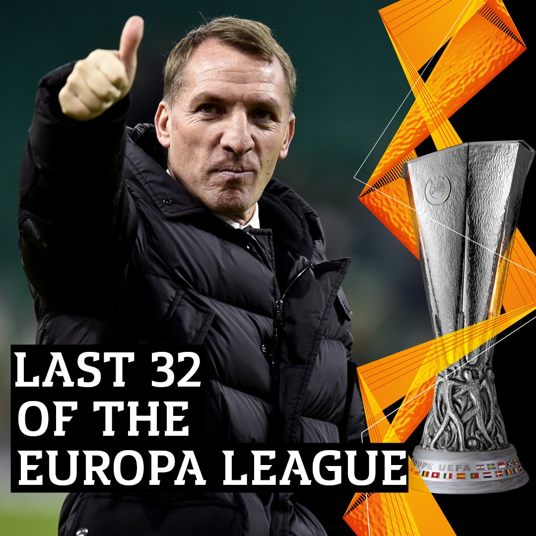 🍀⚪️ Through and 𝑡ℎ𝑟𝑜𝑢𝑔ℎ… to the last 32!  The Glasgow Celtic will be there… 🙌 #UEL