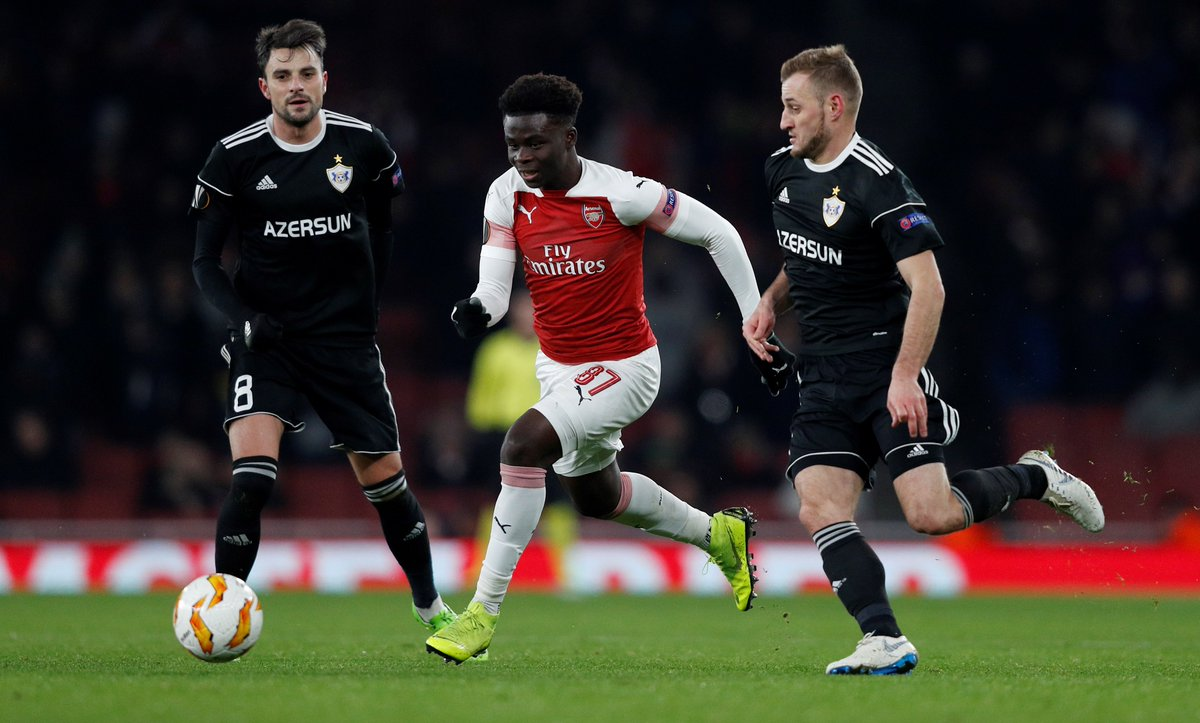 UEFA Europa League Report: Arsenal v Qarabag 13 December 2018