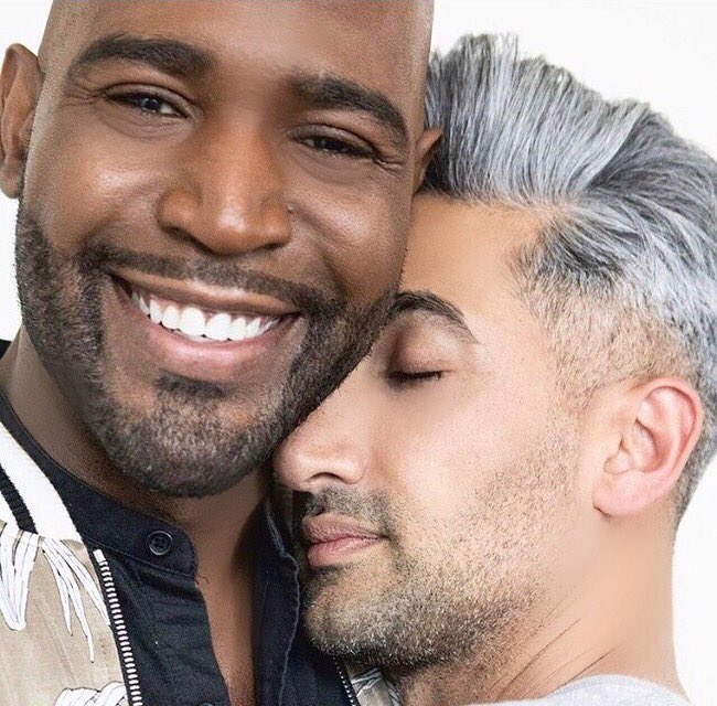 The media doesn't often show men of color embracing and showing each other genuine love and support. Images matter. ❤️🤴🏾🤴🏼❤️ Tan & Me.