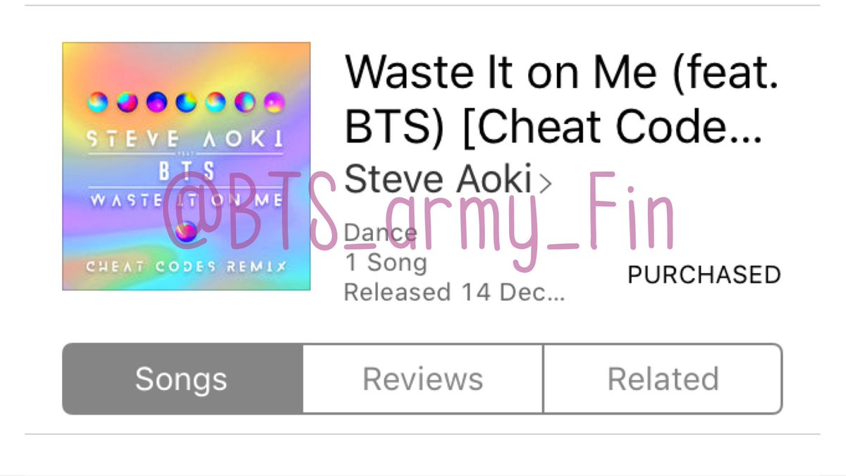 Bts Charts On Twitter Waste It On Me Cheat Codes Remix