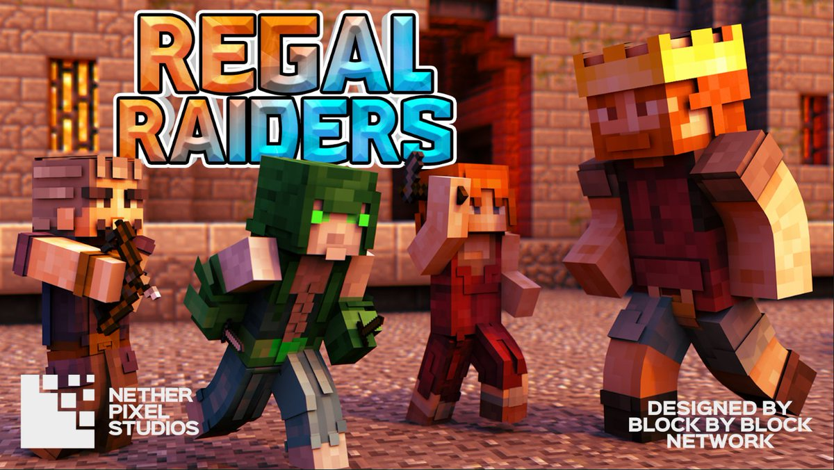 Netherpixelstudios On Twitter The Regal Raiders Skin Pack Hits