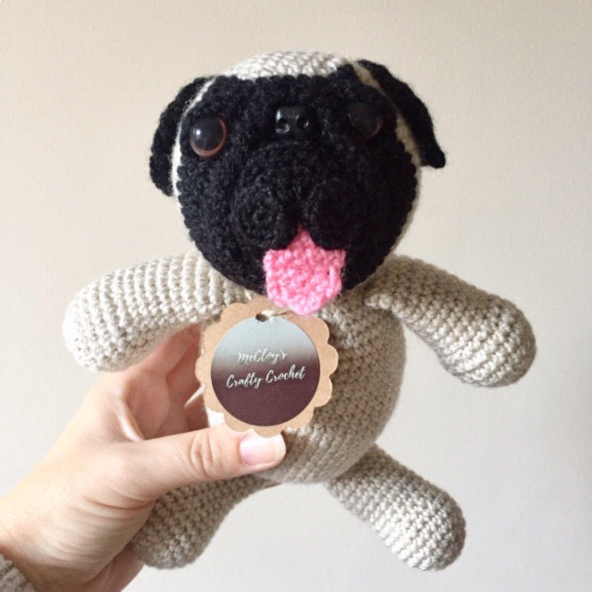 Patrick the pug crochet pattern | Amiguroom Toys | 1200x1200