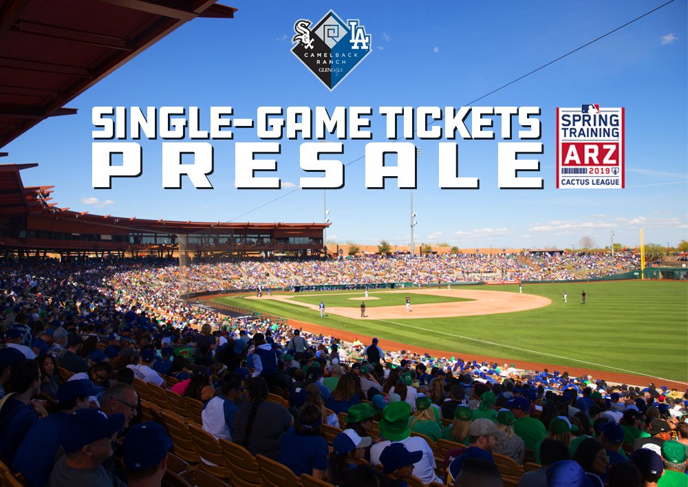 133b0bebeb4 Single-game tickets for ALL  dodgers    whitesox  SpringTraining games at  The Ranch are on sale NOW through Sunday. Use presale offer code SOCIAL19   ...
