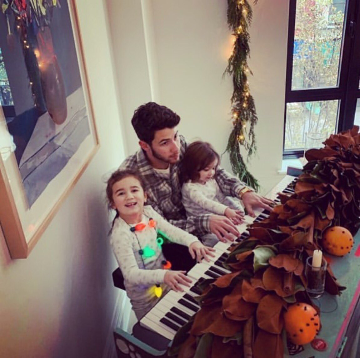 My beautiful nieces teaching me everything I know on the keys. 🎄😍