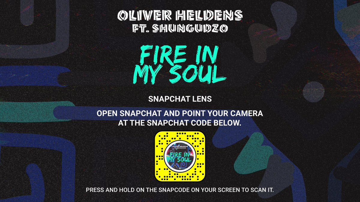 Scan the code to unlock a special lens on @Snapchat! 👻🔥🕺