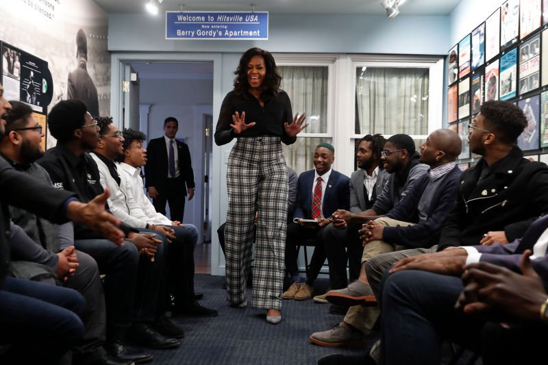 Michelle Obama sat w/ a group of students & reminded them to value their journeys because theres more value in them than they will ever know: trib.al/NZkxw6G