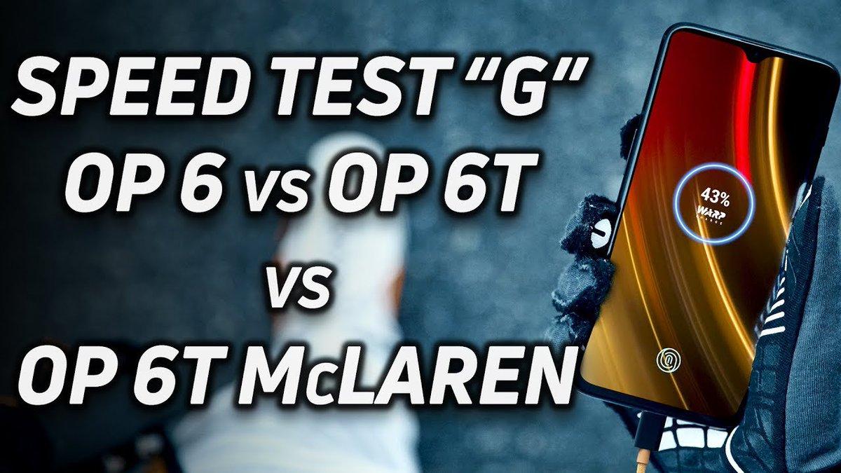 Speed Test G: OnePlus 6 vs 6T vs 6T McLaren buz.tw/f9BTV