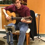 Our friend Carter is back at Augustine House this afternoon. He's such a talented guitarist and what a beautiful rendition of 'Silent Night.' #augustinehouse #ChristmasMusic #Christmasguitarsounds #forbetterretirementliving