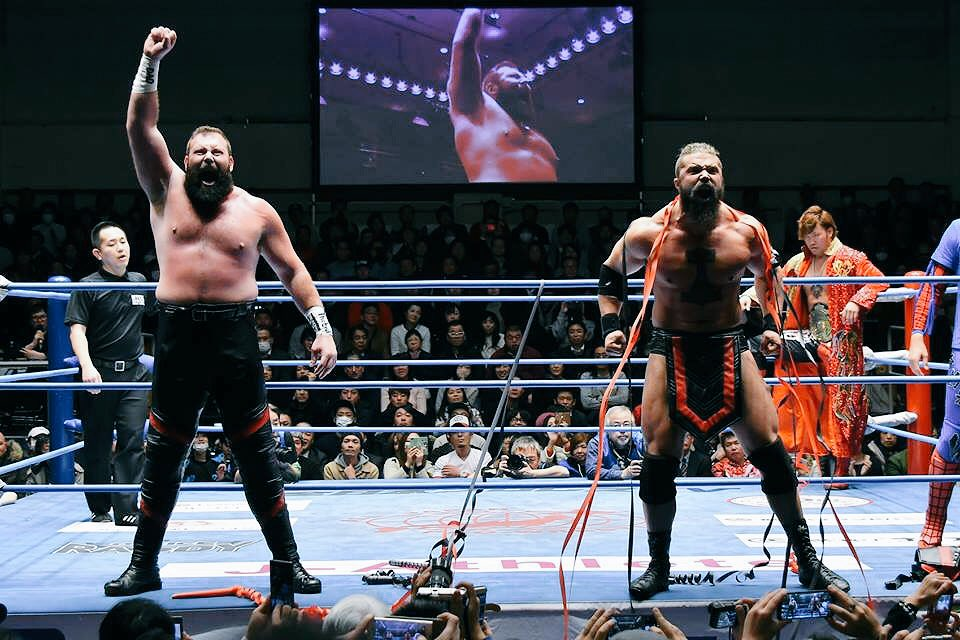 """Parrow on Twitter: """"Wrestling is about great moments and this was one that  @OdinsonOfAsgard won't forget! #ajpw #prowrestling… """""""