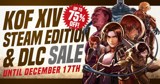 『THE KING OF FIGHTERS XIV Steam Edition』が75% OFF