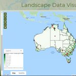 Image for the Tweet beginning: NEW! TERN-ANU Landscape Data Visualiser.