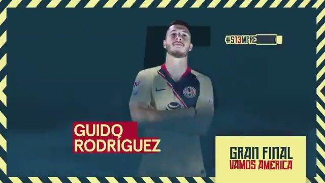 Así va el @ClubAmerica para la 1era Final vs #CruzAzul q te aprec el 11 del #PiojoHerrera ? @amarchesin1 / #GuidoRodriguez 🇦🇷titulares ! #México