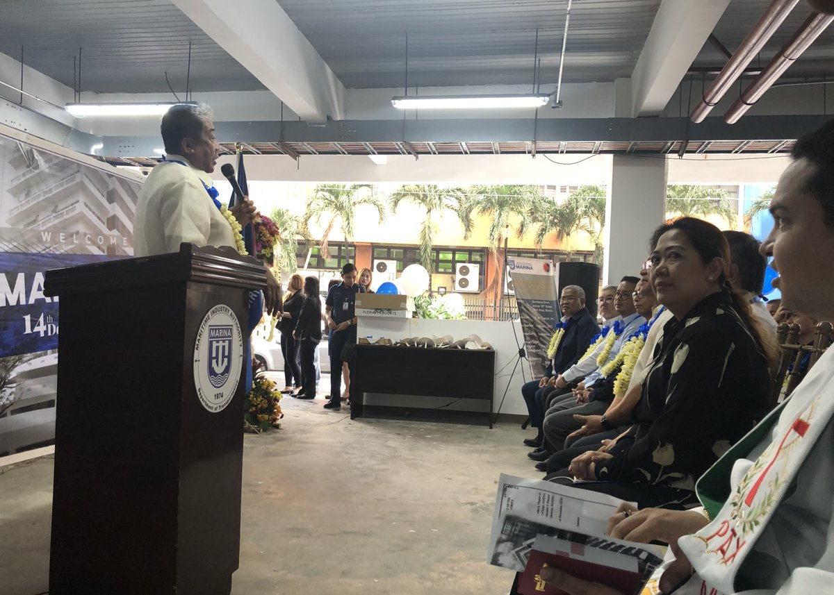 DOTr Sec Art Tugade attends blessing of the newly-constructed Marina central office in Manila | via @jacquemanabat