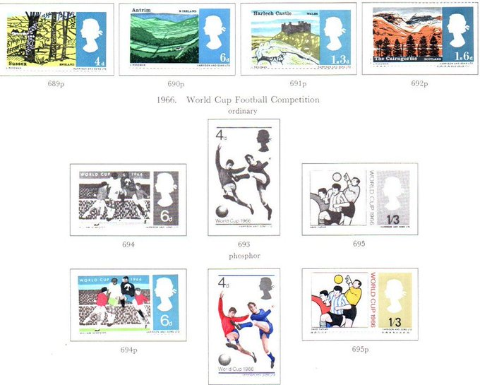 eBay: QEII 1966 Landscapes &World Cup Phos Mint Photo