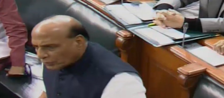 HM Rajnath Singh in Lok Sabha: Congress President tried to mislead public for political benefit, and maligned Indian image globally, he should apologize to the house and to the people of the country. He thought 'Hum to doobe hain sanam tum ko bhi le doobenge' #RafaleDeal