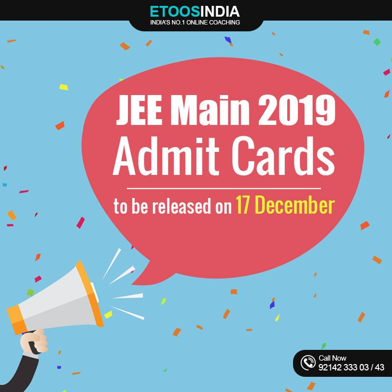 JEE Admit Cards