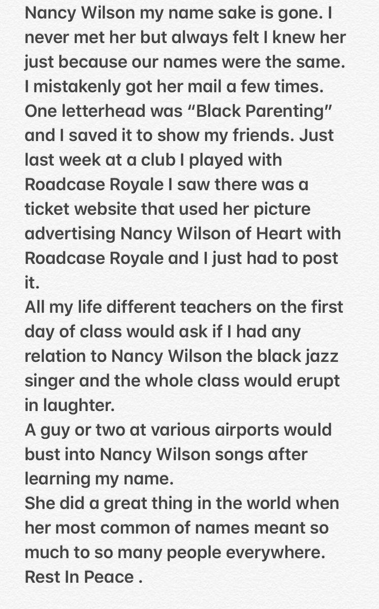 Nancy Wilson on Twitter:
