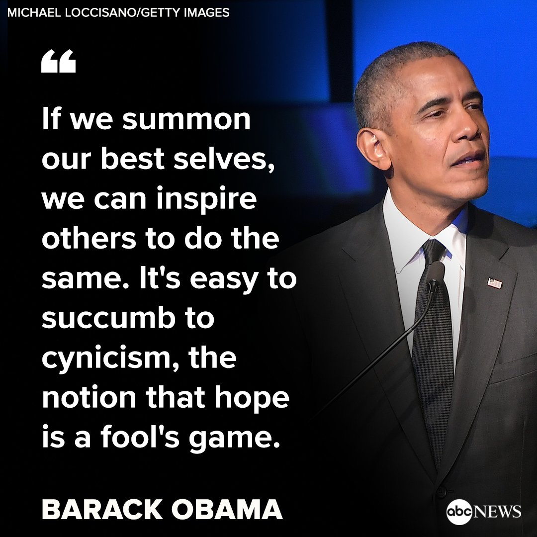 Former President Barack Obama is honored with the Robert F. Kennedy Human Rights Ripple of Hope Award at a gala: 'I'm not sure if you've heard, but I've been on this hope kick for a while now ... Thank you for officially validating my hope credentials' https://t.co/T7nasiSH5H