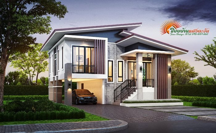 Pinoy Eplans On Twitter Modern Three Bedroom Two Story House With 2 Car Garage Https T Co 8mulhxzjtw