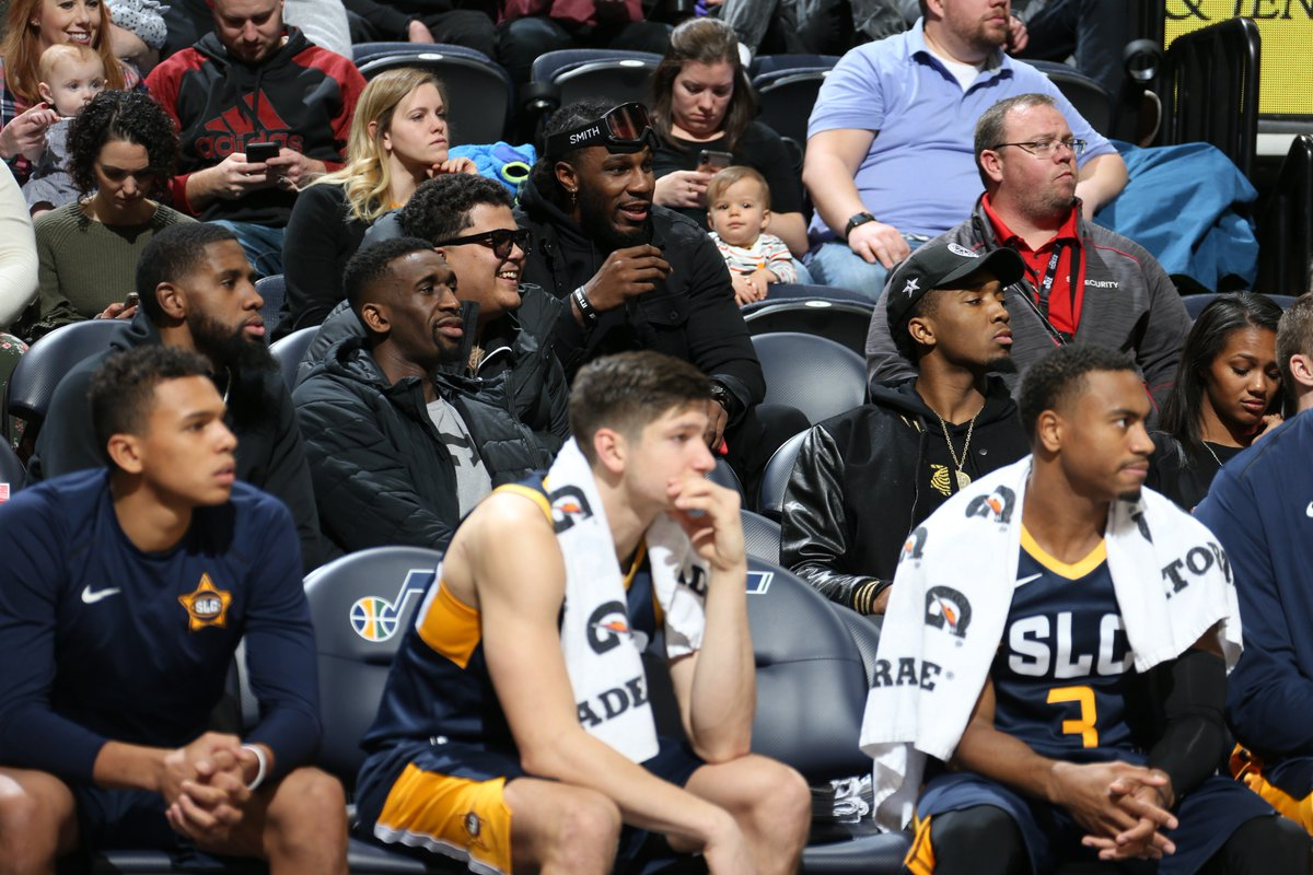 Always good to see the @utahjazz guys supporting our team. #TeamIsEverything